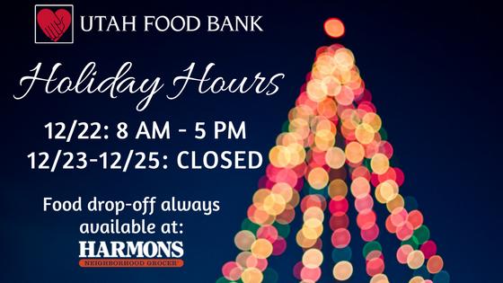 Utah Food Bank Holiday Hours