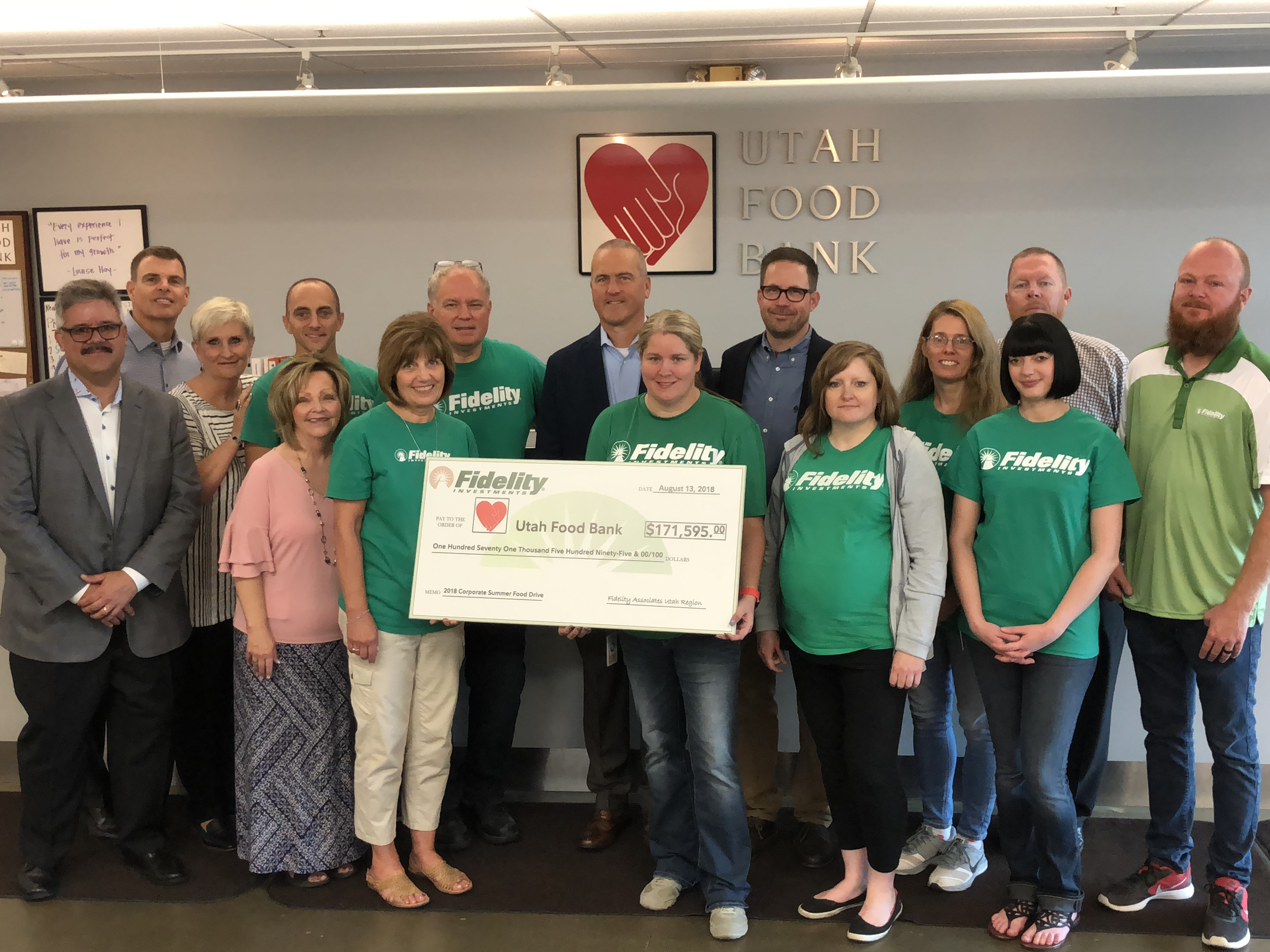 Fidelity Investments Donation