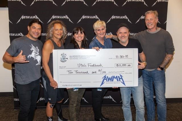 Metallica Donates $10,000!